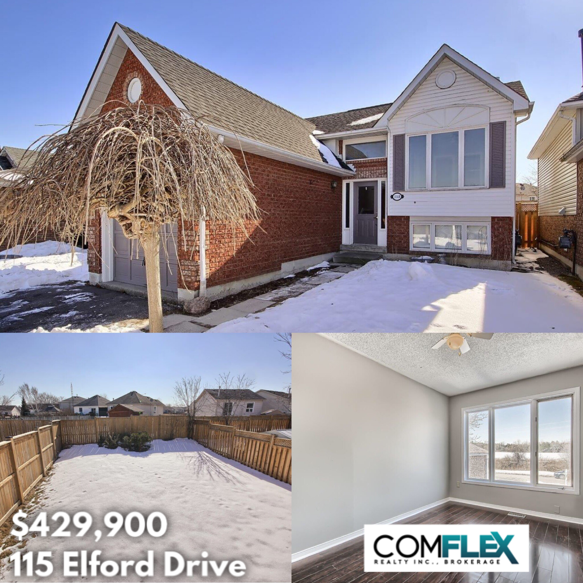 JUST LISTED! 115 ELFORD DRIVE, $429900