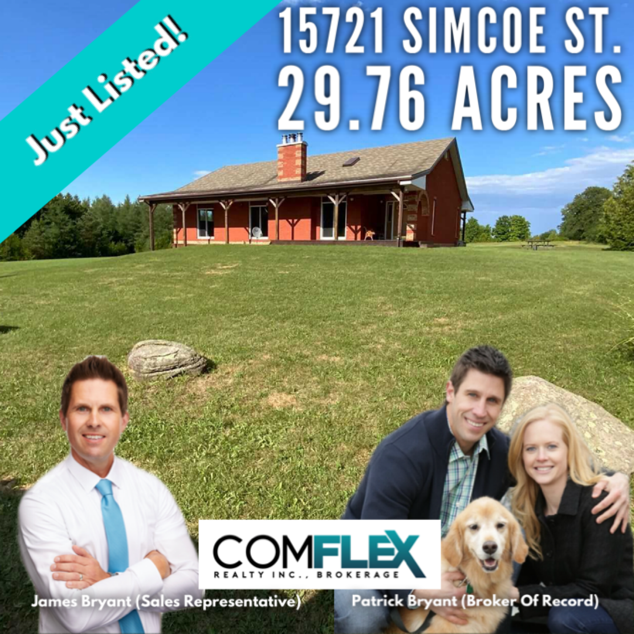 JUST LISTED! 15721 SIMCOE STREET CUSTOM BUNGALOW SITUATED ON 29.76 ACRES