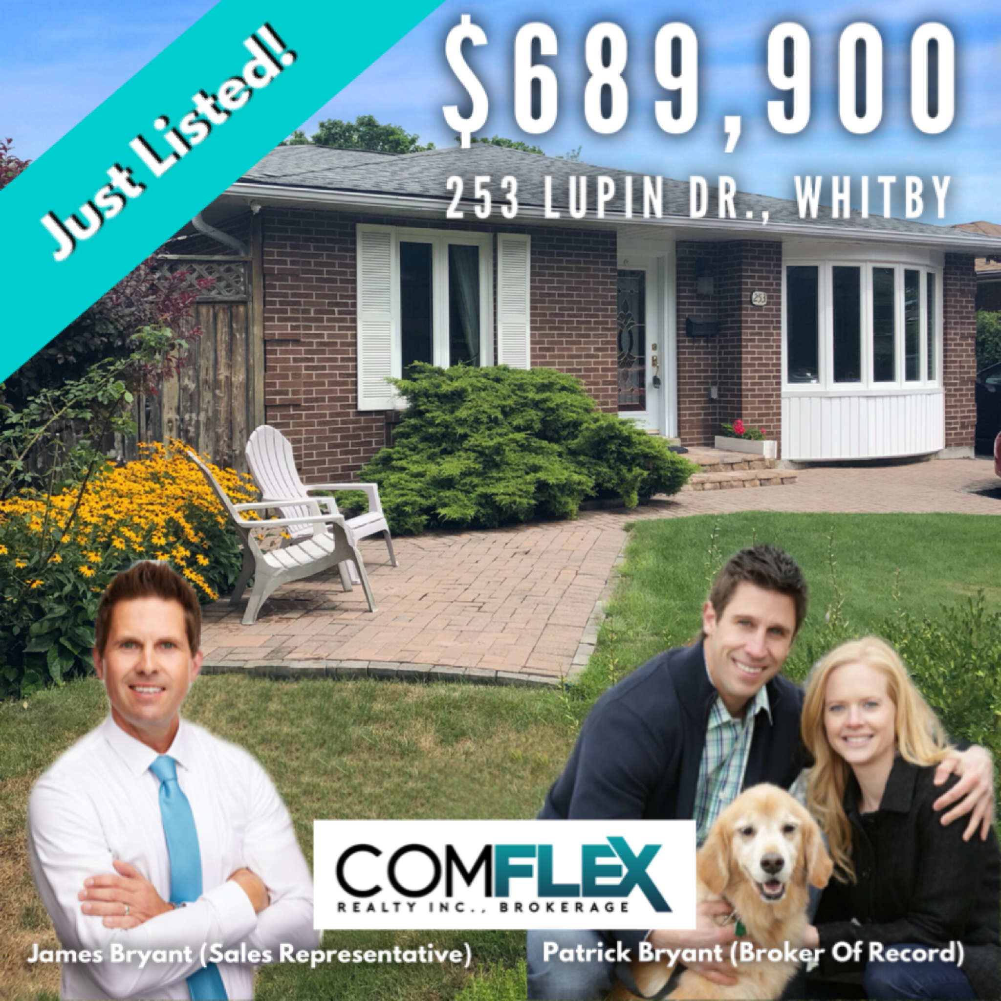 JUST LISTED!  253 LUPIN DRIVE, WHITBY!  $689,900