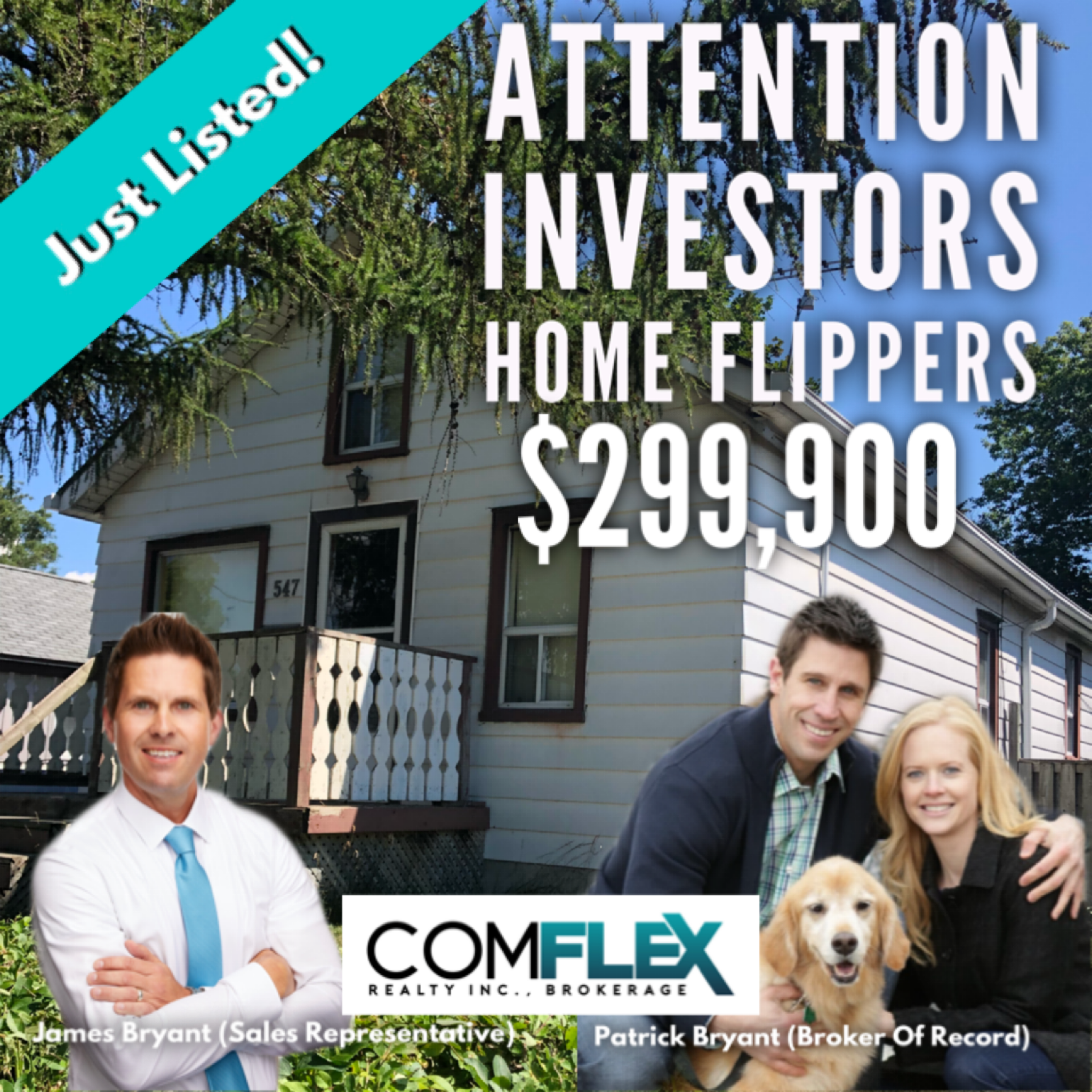 JUST LISTED! ATTENTION HOME FLIPPERS, FIRST TIME BUYERS, INVESTORS! $299,900