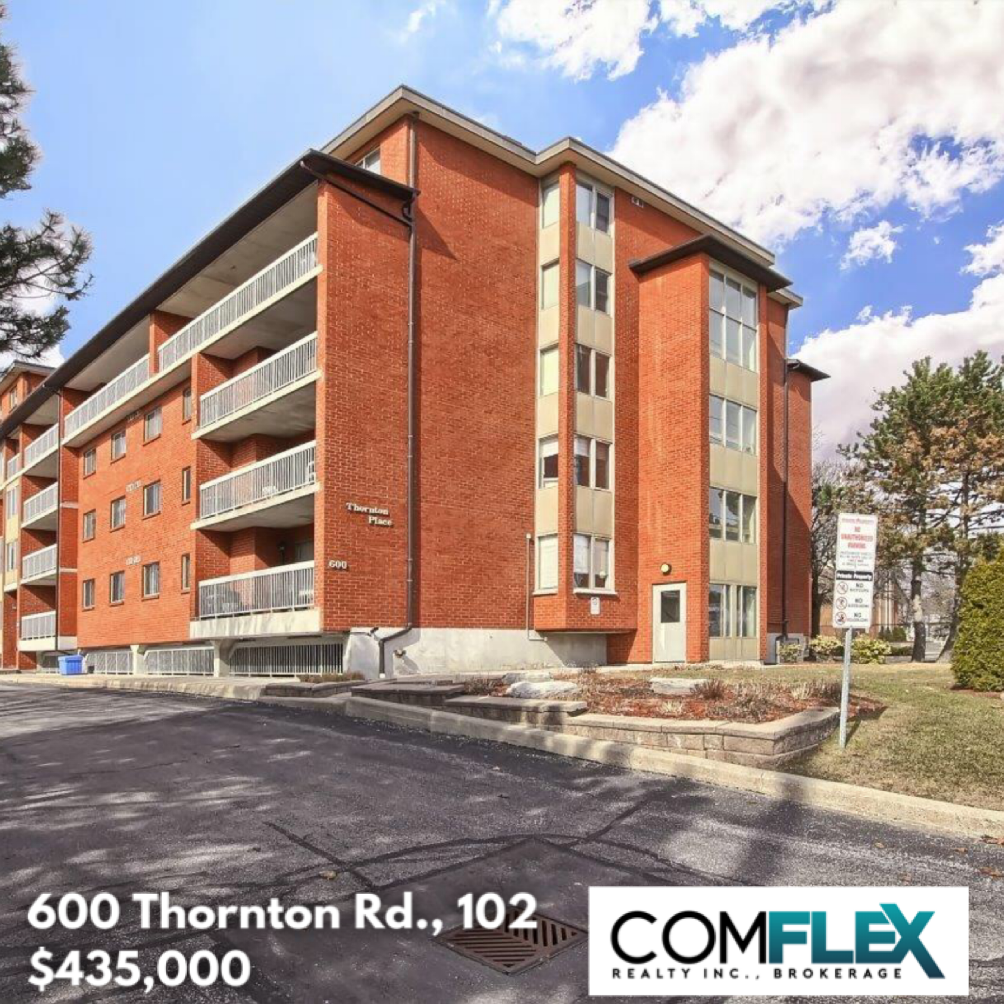 JUST LISTED! 600 THORNTON ROAD #102